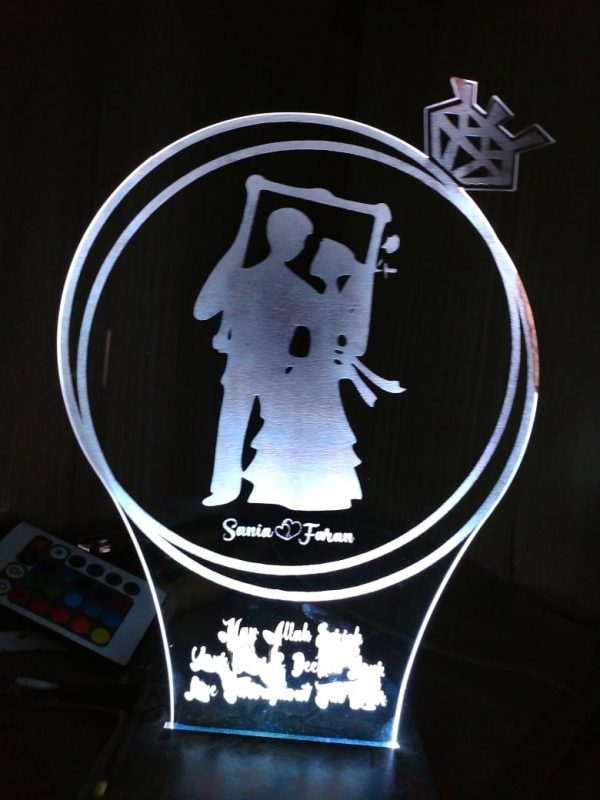 3D Illusion LED Lamp Wedding gift