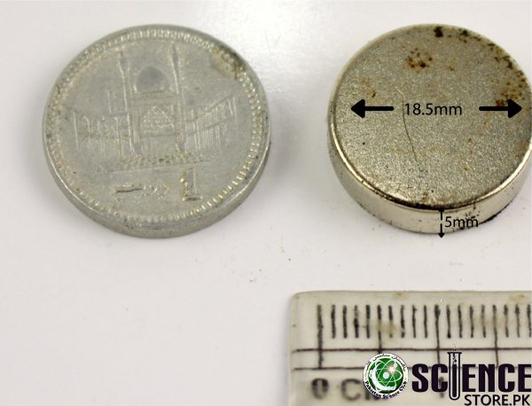 18.5mm x 5mm Neodymium Disc Magnets Available in Pakistan